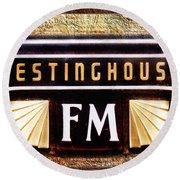 Westinghouse Fm Logo Round Beach Towel