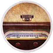 Westinghouse Fm Rainbow Tone Radio Round Beach Towel