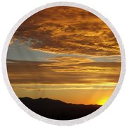 Westview Round Beach Towel by Michael Cuozzo