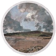 Weymouth Bay With Jordan Hill Round Beach Towel by John Constable