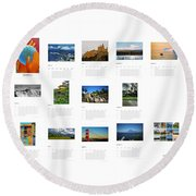 What A Wonderful World Calendar 2012 Round Beach Towel by Juergen Weiss