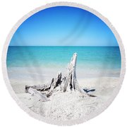 What Remains - Altered Round Beach Towel