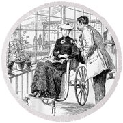 Wheelchair, 1886 Round Beach Towel