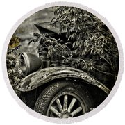 Wheels And Roots  Round Beach Towel