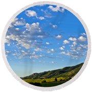 When Clouds Meet Mountains 2 Round Beach Towel