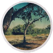 When I Was Your Girl Round Beach Towel by Laurie Search
