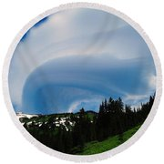 Whirling Clouds  Round Beach Towel
