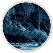 Whirlwinds 1873 Round Beach Towel