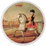Whiskey Rebellion, 1794 Round Beach Towel by Photo Researchers