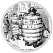 Whisky Ring Cartoon, 1875 Round Beach Towel