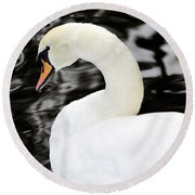 Whistling Swan Round Beach Towel