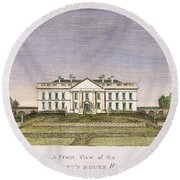 White House, D.c., 1820 Round Beach Towel