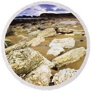 White Park Bay, County Antrim, Ireland Round Beach Towel