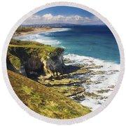 White Rocks, Portrush, Co Antrim Round Beach Towel