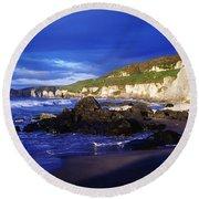White Rocks Strand, County Antrim Round Beach Towel