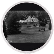 White Roe Lake Hotel - Livingston Manor Ny - Lawn To Lake Round Beach Towel