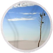 White Sands National Monument 1 Round Beach Towel