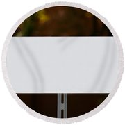 White Sign Round Beach Towel
