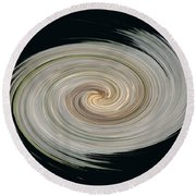 White Spiral Round Beach Towel