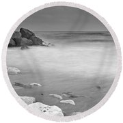 White Stone Round Beach Towel