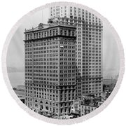 Whitehall Buildings At Battery Place Station In New York City - 1911 Round Beach Towel