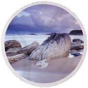 Whitepark Bay, Co Antrim, Ireland Rocks Round Beach Towel
