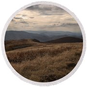 Whitetop Mountain Virginia Round Beach Towel