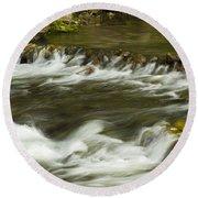 Whitewater River Rapids 3 Round Beach Towel