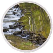 Whitewater River Rock Dam 1 A Round Beach Towel