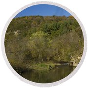 Whitewater River Scene 20 A Round Beach Towel