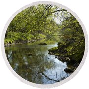 Whitewater River Spring 10 Round Beach Towel