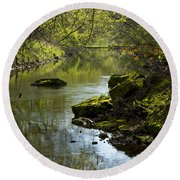 Whitewater River Spring 11 Round Beach Towel
