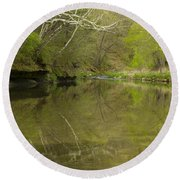 Whitewater River Spring 13 Round Beach Towel