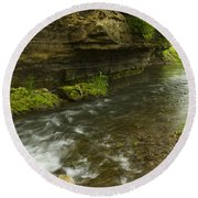 Whitewater River Spring 6 Round Beach Towel