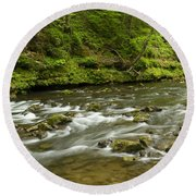 Whitewater River Spring 8 A Round Beach Towel