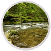 Whitewater River Spring 8 C Round Beach Towel