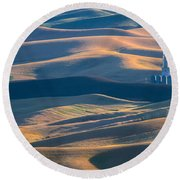 Whitman County Grain Silo Round Beach Towel