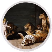 Whoever You Are Here Is Your Master Round Beach Towel by Jean Leon Gerome