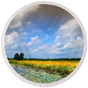 Wide Country Round Beach Towel