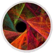Wide Eye Color Delight Panorama Round Beach Towel