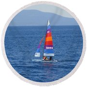 Wide Sail Round Beach Towel