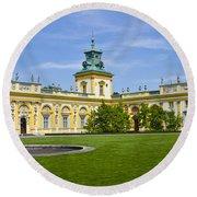Wilanow Palace - Warsaw Round Beach Towel
