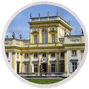 Wilanow Palace And Museum - Poland Round Beach Towel