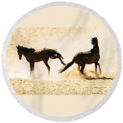 Wild Dust Round Beach Towel