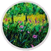 Wild Flowers 451190 Round Beach Towel