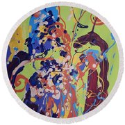 Wild Flowers104 Round Beach Towel