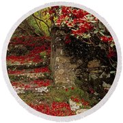 Wild Garden, Rowallane Garden, Co Down Round Beach Towel