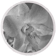 Wild Maui Orchid Round Beach Towel