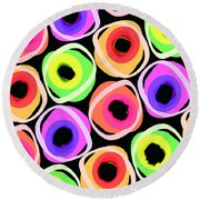 Wild Spots Round Beach Towel by Louisa Knight