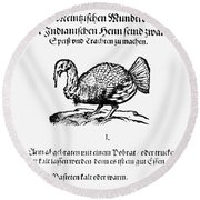 Wild Turkey, 1604 Round Beach Towel